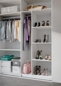 Der Innenbereich von begehbaren Kleiderschränken – immer ordentlich