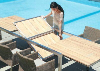 Einfach vergrößern: Zebra Gartenmöbel - Tische