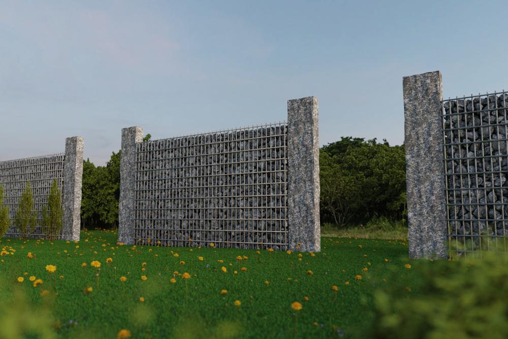 Moderne Palisaden aus Stein
